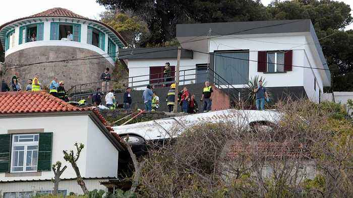 At least 29 people killed in tourist bus crash in Madeira, Portugal