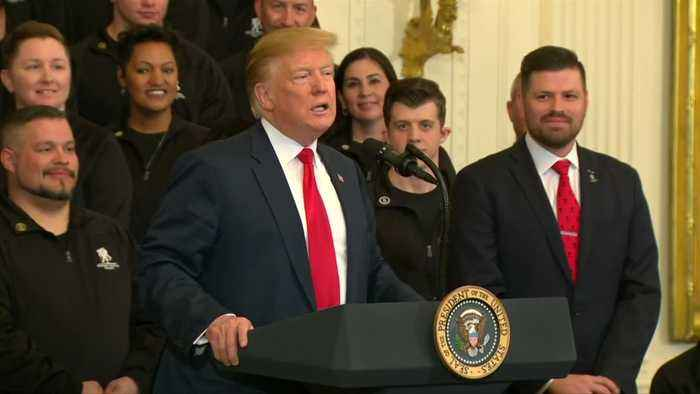 Trump'having a good day,' on Mueller report release