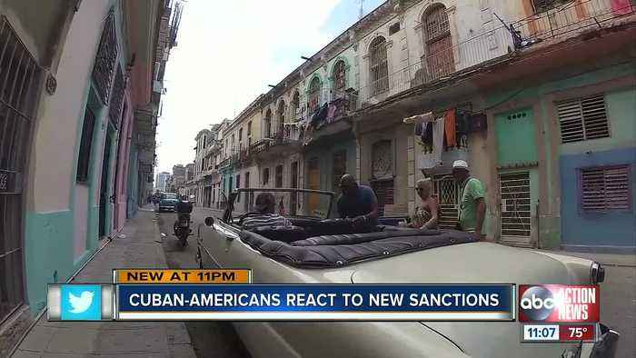 Cuban Americans react to new sanctions