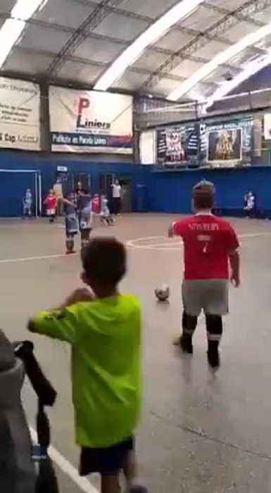 This Kid's Free Kick Technique Is Flawless