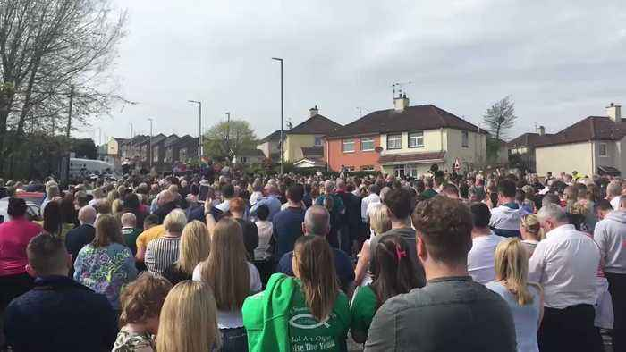 Politicial Leaders Pay Tribute to Slain Journalist at Derry Vigil