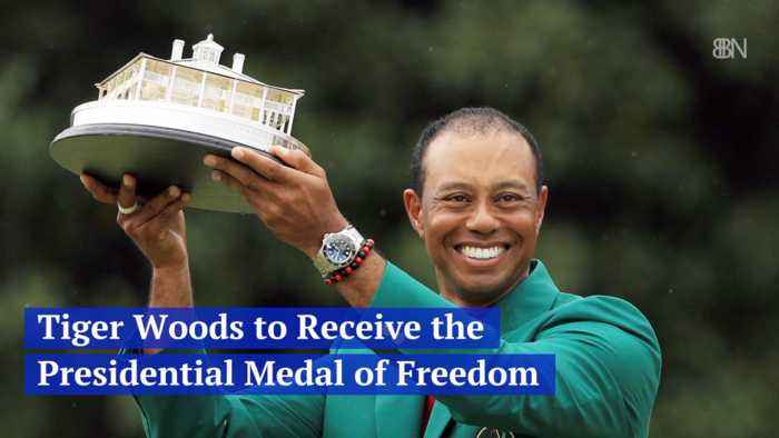 Tiger Woods Gets The Presidential Medal of Freedom After Masters Win