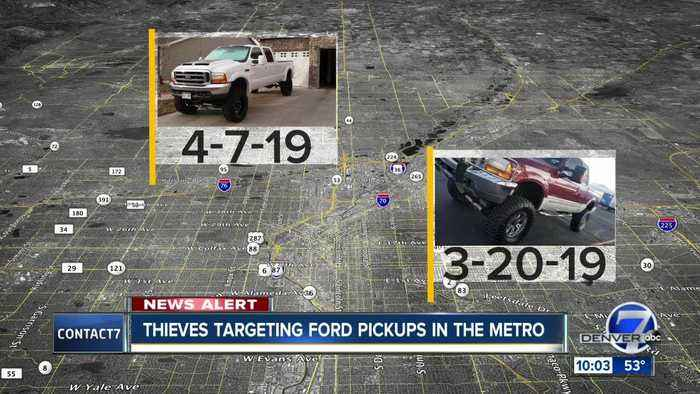 Thieves target Ford F-250 and F-350 trucks in the Denver metro