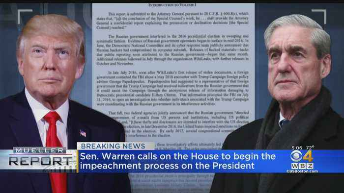 Elizabeth Warren Calls On House To Begin Impeachment Process On President Trump