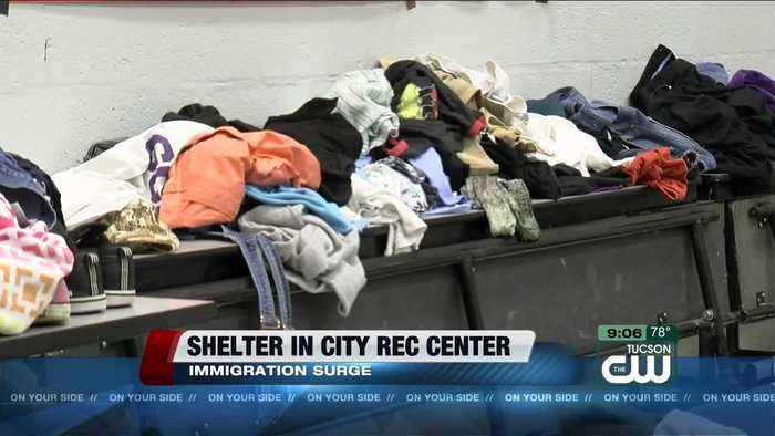 Immigrants shelter at Tucson Rec Center