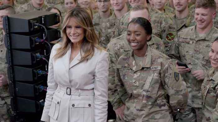 Melania Trump Is Welcomed At Fort Bragg
