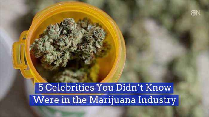 These Celebrities Invested In Cannabis