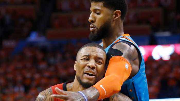 The Thunder Hit 15 3's To Beat The Blazers