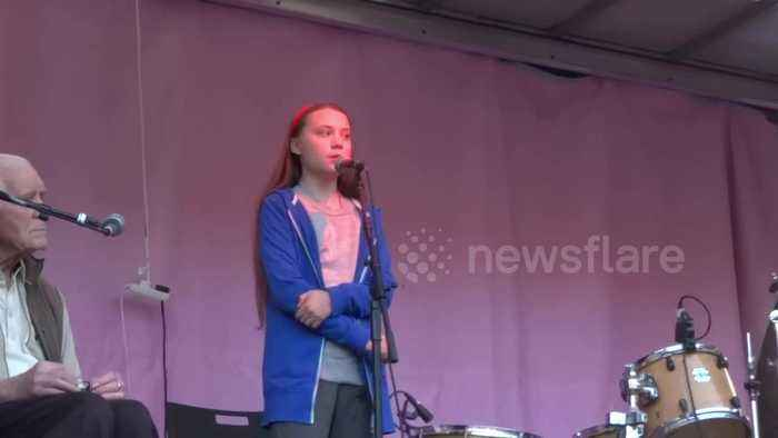 Politicians 'won't get away with it any longer,' Greta Thunberg tells Extinction Rebellion