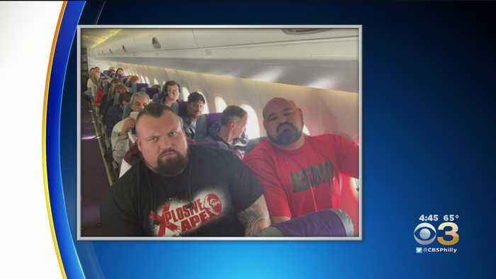 Tight Squeeze For 2 Of World's Strongest Man Champions On Flight