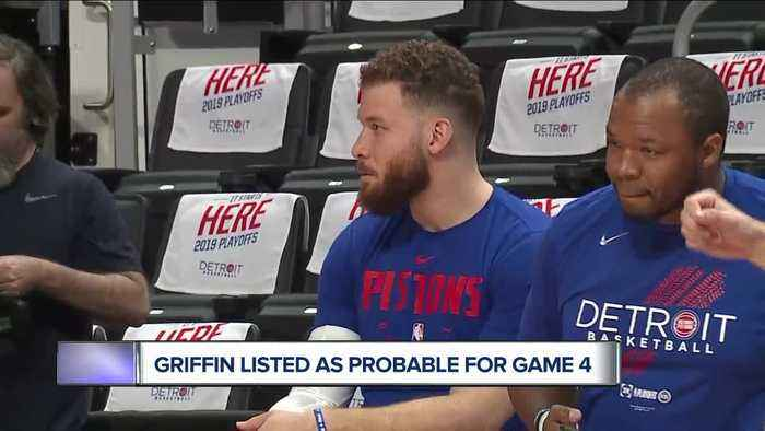 Blake Griffin listed as probable for Game 4