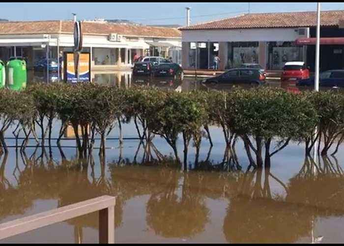 Cars Abandoned in Flood Water Following Heavy Rain in Alicante
