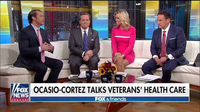 Ocasio-Cortez at town hall on veterans' health care
