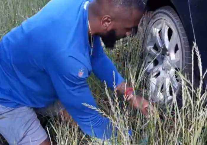 Colts Linebacker Changes His Former High School Teacher's Tire