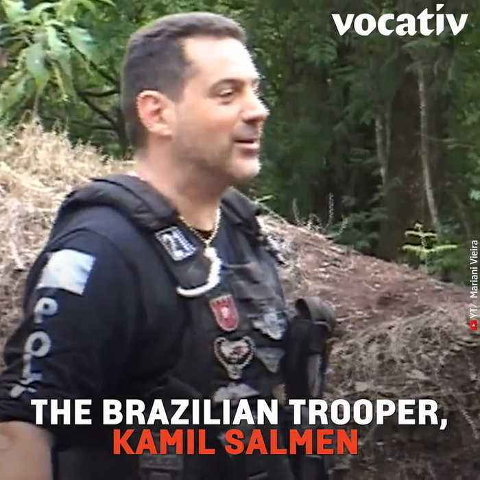 Cops are Instructed to Shoot while Their Instructor Runs in Front of Them in Brazilian Video Going Viral
