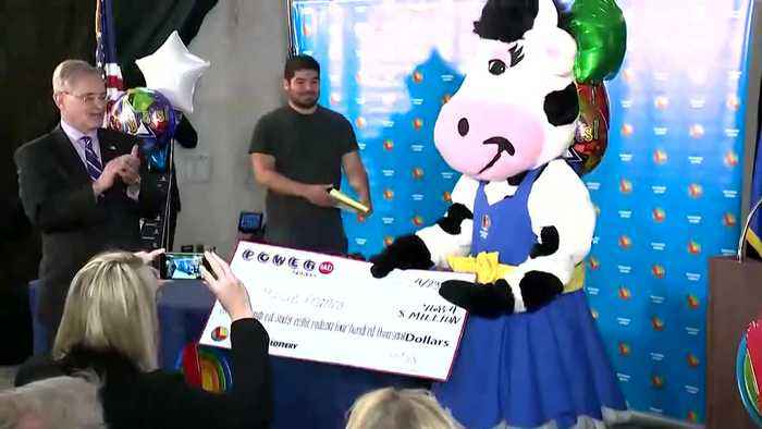 WEB EXTRA: Wisconsion Powerball Jackpot Winner Comes Forward