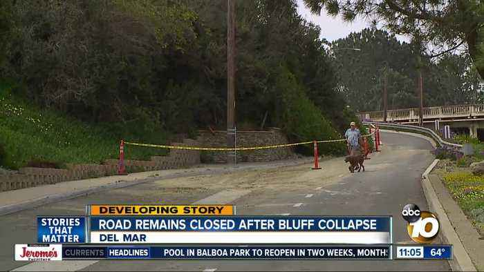 Road closed after Del Mar bluff collapse