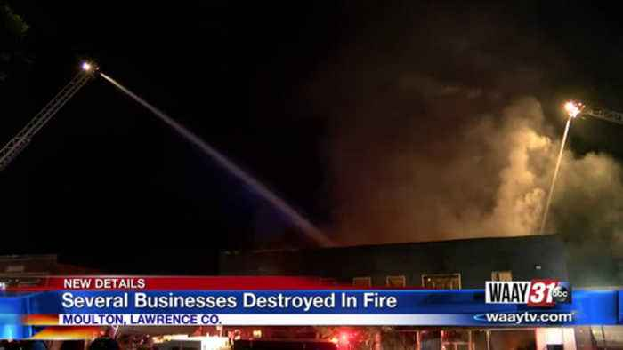 Several businesses destroyed in fire