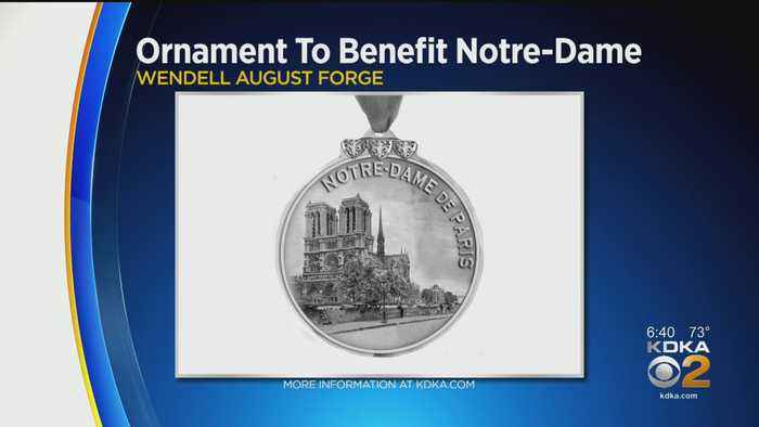 Wendell August Forge Reveals New Ornament To Benefit Notre Dame Cathedral