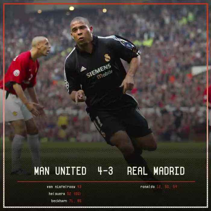 On This Day, 2003: Ronaldo knocked Manchester United out of the Champions League with a stunning hat-trick and was applauded off
