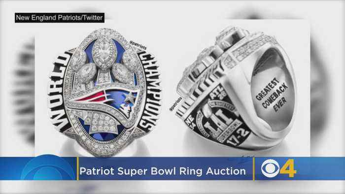 Patriots Player's '28-3' Super Bowl Ring Up For Auction
