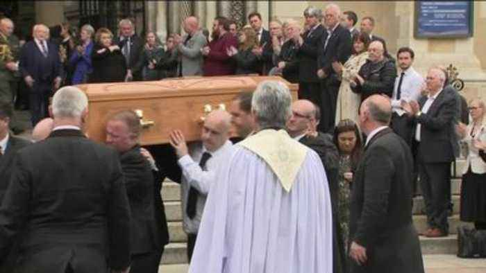 Priest confronts politicians at Lyra McKee's funeral