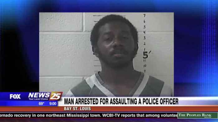Man arrested for assaulting a Bay St. Louis police officer