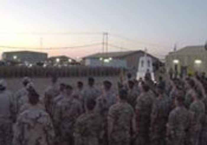 Dawn Anzac Day Services Held at Taji Military Complex in Iraq