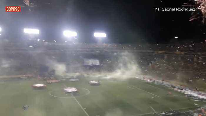 Tigres' welcome for their team before the CONCACAF Champions League final against arch-rivals Monterrey was on another level