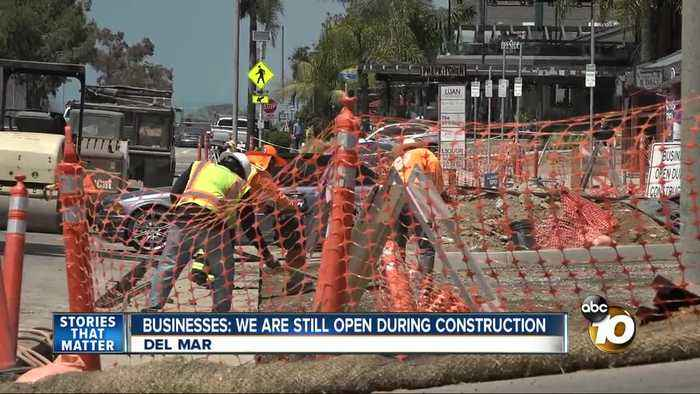 Del Mar's Downtown Streetscape Project construction frustrating businesses