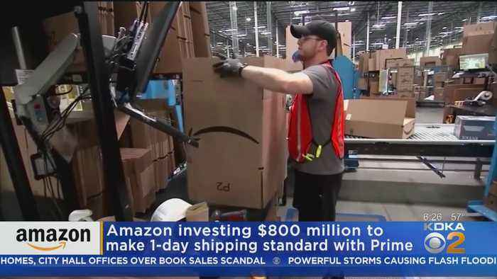 Amazon To Offer Free 1-Day Shipping For Prime Customers