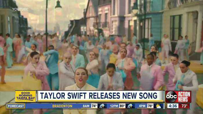 Taylor Swift releases colorful new song, video called 'ME!'