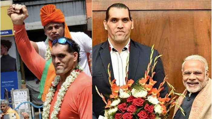 Lok Sabha Election 2019  : Wrestler Khali campaigns for BJP's candidate Anupam Hazra | Oneindia News