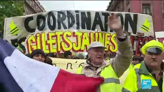 Yellow Vest protests in Strasbourg and Paris after President Macron's tax cuts