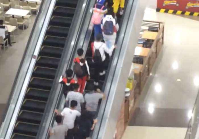 Excited Avengers Fans Scramble Up Philippines Mall Escalator to Watch Endgame