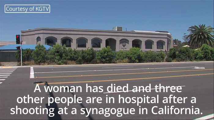 One dead after man opens fire on worshippers at California Synagogue