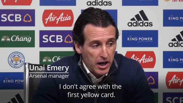 Unai Emery: I don't agree with the first yellow card