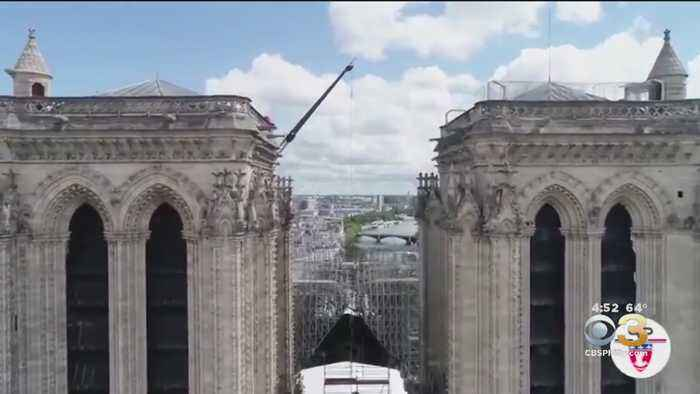 French Police Release Drone Video Of Notre Dame Roof Secured