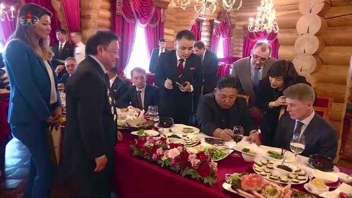 North Korea airs documentary of Kim's visit to Russia