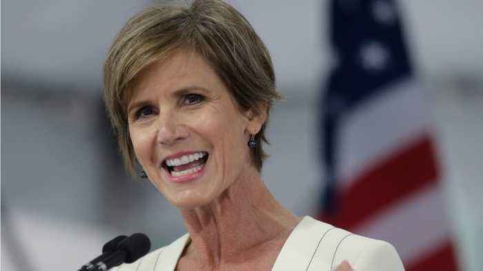 Former Deputy AG Sally Yates Says If Trump Weren't President, He Would Be Indicted
