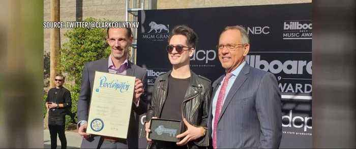 Panic! at the Disco singer receives key to the city