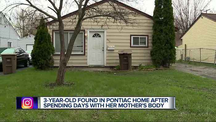 3-year-old Pontiac girl found home alone after mom with history of drug use found dead