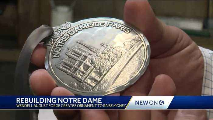 Rebuilding Notre Dame: Wendell August Forge creates ornament to raise money