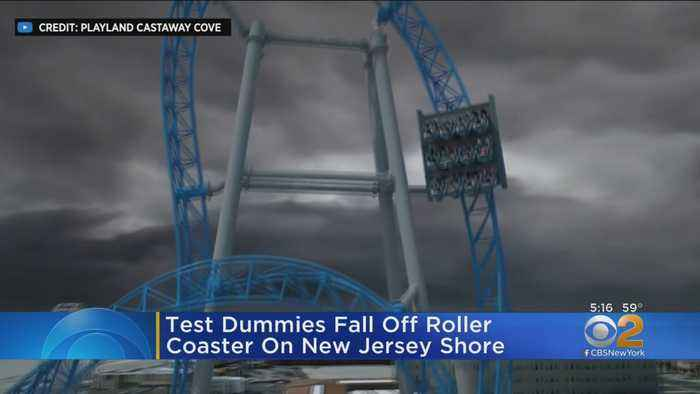 Test Dummies Fall Off Roller Coaster On New Jersey Shore