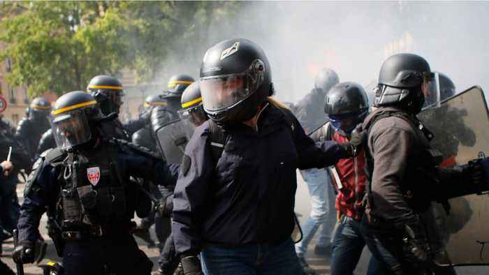 Paris Riots For International Workers' Day