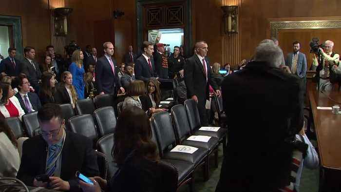 AG Barr arrives for hearing on Mueller report