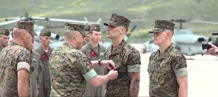 Marines honored for bravery during 1 October shooting