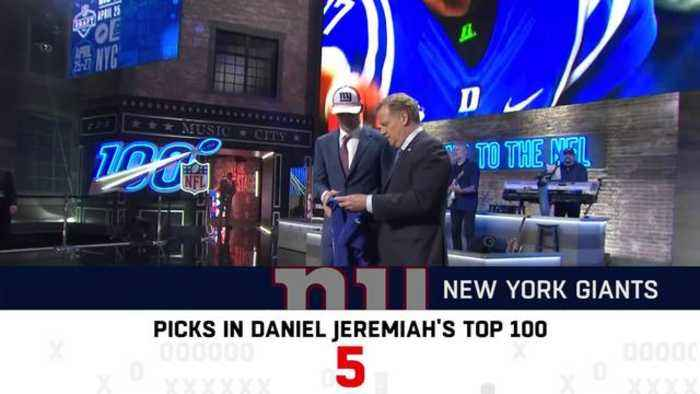 How many players did each team pick from Daniel Jeremiah's top 100?