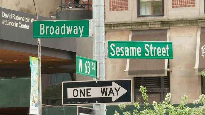 Sesame Street: Watch as New York City names road after groundbreaking children's TV show