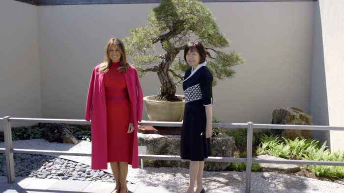 Melania Trump Hosts Mrs. Abe At The White House